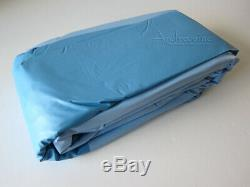 New 15' Round Quality Above Ground Swimming Pool Blue Overlap Replacement Liner