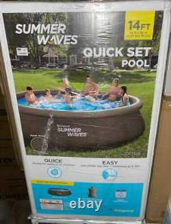 New Summer Waves 14' x 36 Quick Set Pool with Cartridge Filter Pump Free Ship