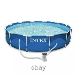 ON SALE! Intex 12' x 30 Metal Frame Round Above Ground Swimming Pool with Pump