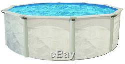 Ocean Mist 18' Round 48 Steel Above Ground Swimming Pool, Filter, Ladder, Liner