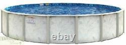 POOL 30' ROUND x 54 Above Ground Galvanized Steel Blue Liner Wall Skimmer