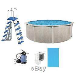 Phoenix 15' x 52 Frame Above Ground Swimming Pool with Pump, Liner, & Ladder Kit