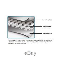 Piscina Exterior Sobre Suelo, Fácil de Montar, Liner y Bomba de Filtro Incluidas