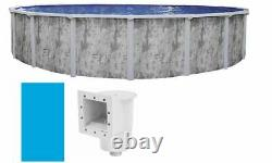 Ponderosa Above Ground Swimming Pool with Skimmer & Plain Blue Liner (Choose Size)