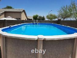 Pool Factory Saltwater 8000 Oval Above Ground Swimming Pool 15' x 30' Plus Extra