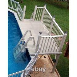 RD-T Above Ground Pool Side Deck System 5' x 10' Vinyl Works Of Canada