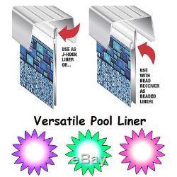 RIVIERA Above Ground Pool Liner, Unibead replacement J-hook, Uni-bead VERSATILE