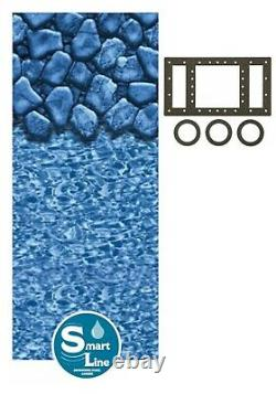 Rectangular Boulder Swirl Replacement Pool Liner for Your Fanta Sea 25 Gauge