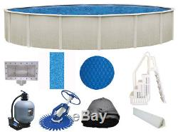 Reprieve 27' Round 52 Above Ground Pool withLiner, Filter, Cleaner, Ladder & More