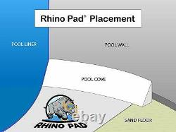 Rhino Pad 12' x 24' Rectangle Swimming Pool Liner Shield Pad Protector