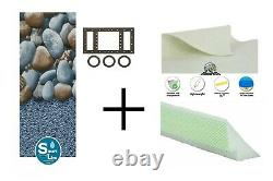 Rock Island Above Ground Swimming Pool Overlap Liner with Guard Pad & Cove Kit