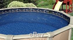 Round & Oval Above Ground Waterfall Swimming Pool Overlap Liner with Cove & Guard