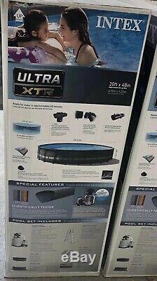 SHIPS ASAP! INTEX Ultra XTR Frame Pool (20ft X 48in) WithPool liner Cover Ladder