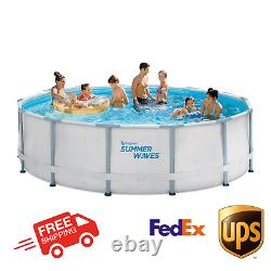 SUMMER WAVES 14' x 42 ELITE FRAME SWIMMING POOL With FILTER PUMP, LADDER, & COVER