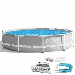 SWIMMING POOL INTEX 305cm 10ft Garden Round Frame Ground Pool + REPAIR KIT