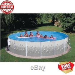 Sea View Club Steel Wall Above Ground Swimming Pool All-Weather Blue Vinyl Liner