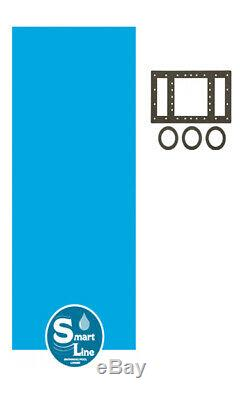 SmartLine 15 x 21 Oval Overlap Blue Above Ground Swimming Pool Liner 20 Gauge