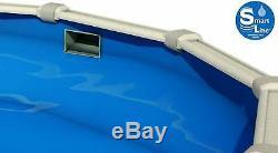 SmartLine 15 x 21 Oval Overlap Blue Above Ground Swimming Pool Liner 25 Gauge