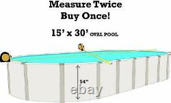 SmartLine 15' x 30' x 54 Oval Unibead Crystal Swimming Pool Liner 25 Gauge