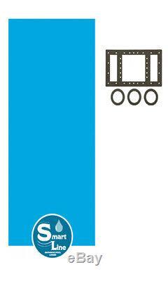 SmartLine 15 x 33 Oval Overlap Blue Above Ground Swimming Pool Liner 25 Gauge
