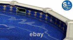SmartLine 15' x 48 Round Unibead Mosaic Diamond Swimming Pool Liner 25 Gauge
