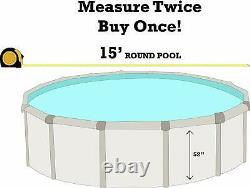 SmartLine 15' x 52 Round Unibead Laguna Tile Swimming Pool Liner 25 Gauge