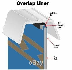 SmartLine 18 x 34 Oval Overlap Blue Above Ground Swimming Pool Liner 30 Gauge