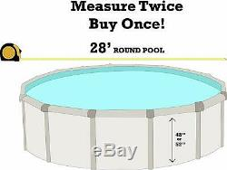 SmartLine 28' Round Overlap Blue Above Ground Swimming Pool Liner 30 Gauge