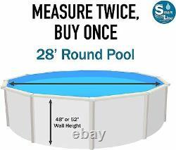 SmartLine 28' Round Overlap Waterfall Swimming Pool Liner 25 Gauge
