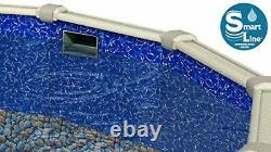 SmartLine Bedrock 25 GA Overlap Swimming Pool Liner with Coping (Choose Size)