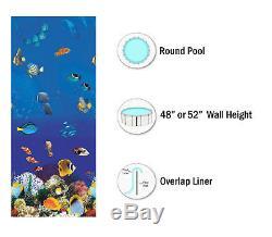 SmartLine RD Above Ground Caribbean Swimming Pool Overlap Liner (Choose Gauge)
