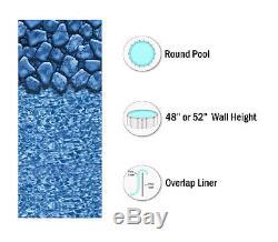 SmartLine Round Above Ground Boulder Swimming Pool Overlap Liner (Choose Gauge)