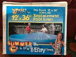 Summer Escapes 12 x 36 Replacement Ring Pool Liner Heavy Weight Vinyl