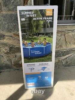 Summer Waves 10 x 30 Active Metal Frame Above Ground Pool with Filter Pump NEW