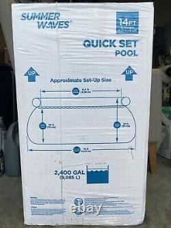 Summer Waves 14' x 36 Wicker Print Quick Set Pool withFilter Pump SHIPS SAME DAY