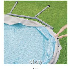 Summer Waves 14' x42 Elite Frame Above Pool Filter Pump Cover Ladder Filter