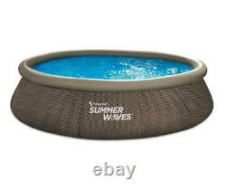 Summer Waves 14ft x 36in Quick Set Above Ground Swimming Pool with Filter Pump