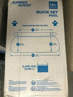 Summer Waves 14ft x 36in Quick Set Swimming Pool with Filter Pump FREE SHIP