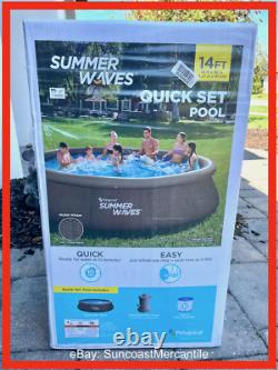 Summer Waves 14ft x 36in Quick Set Swimming Pool withFilter + Pump New In Hand