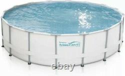Summer Waves 14x42 Elite Metal Frame Pool with Filter Pump, Ladder, Cover NEW