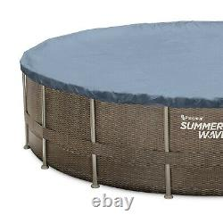Summer Waves 22' x 52 Above Ground Swimming Pool Set with Pump, Ladder & Cover