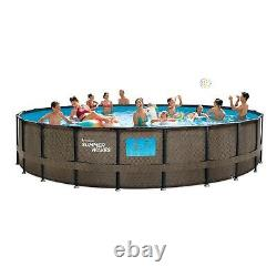 Summer Waves 22ft x 52in Above Ground Swimming Pool With Pump, Ladder, & Cover
