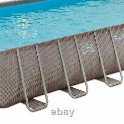 Summer Waves 24ft x 12ft x 52in Rectangle Above Ground Frame Swimming Pool Set