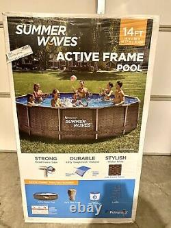 Summer Waves Active Frame 14ft x 36in Above Ground Pool with Filter Pump NEW NIB
