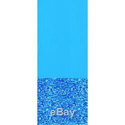 Swimline 15 Foot Swirl Blue Round Above Ground Swimming Pool Wall Overlap Liner