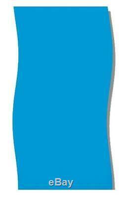 Swimline 21' Solid Blue Round Above Ground Swimming Pool Overlap Liner