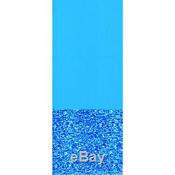 Swimline 24 Foot Swirl Blue Round Above Ground Swimming Pool Wall Overlap Liner