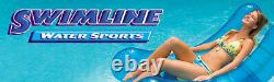 Swimline 24' Solid Blue Round Above Ground Swimming Pool Overlap Liner (2 Pack)