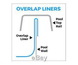 Swimline 33' Round Overlap Swimming Pool Liner Above-Ground 48/52 Height
