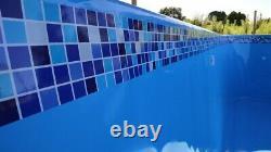 Swimming Pool Border Liners. 20 METERS LONG Decorative Underwater Decals/Stripes